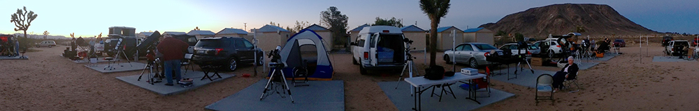 The scene at a GMARS Star Party. Join the Riverside Astronomical Society in Landers at our next star party! Photo by Michael Bauer.