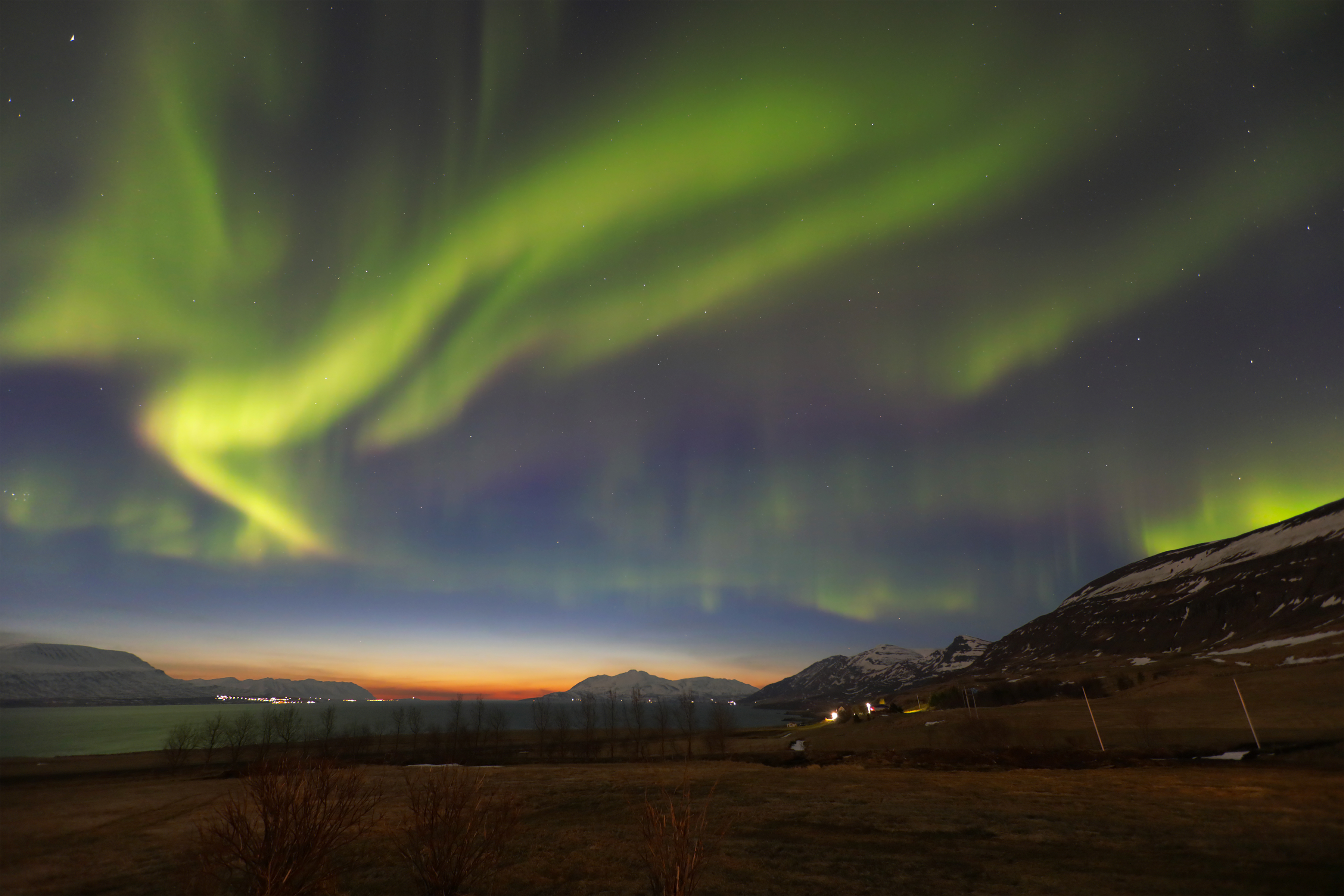 The aurora borealis from Iceland
